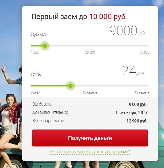 калькулятор мини-кредитов