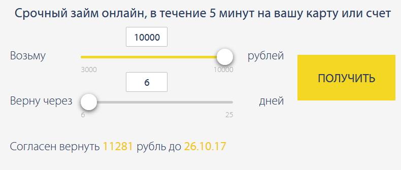 рассчитать онлайн заявку в PayPS