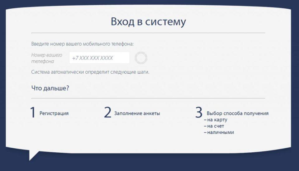 онлайн заявка в PayPS