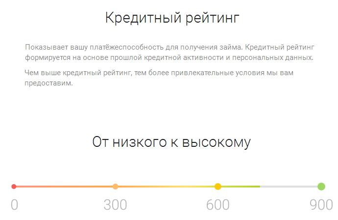 шкала рейтинга заемщика